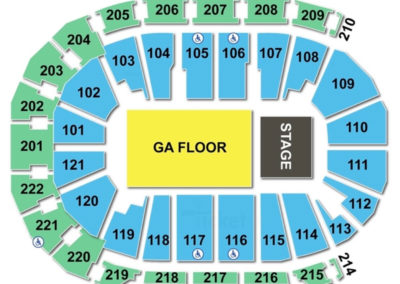 Ford Center Seating Chart Concert 2