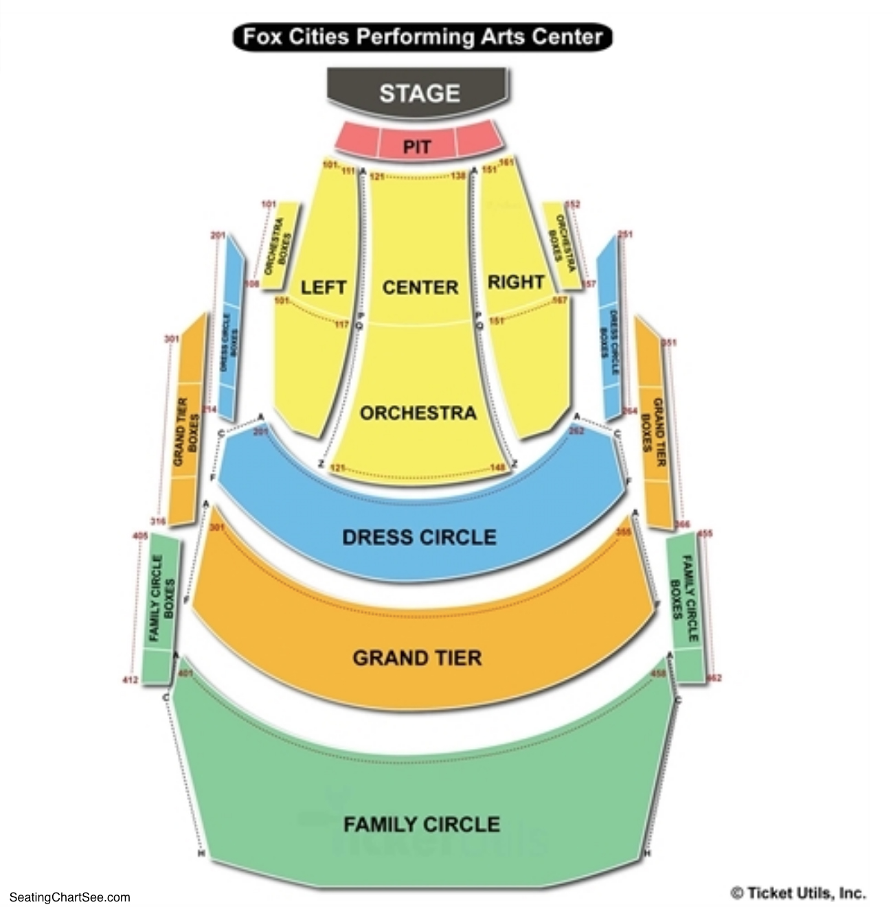 Fox Cities Performing Arts Center Seating Chart Appleton