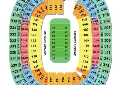 Foxborough Gillette Stadium Football Seating Chart