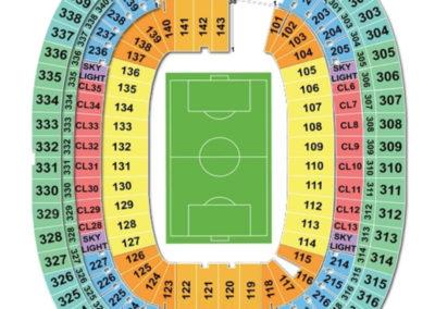 Foxborough Gillette Stadium Soccer Seating Chart