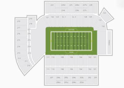Georgia Tech Yellow Jackets Football Seating Chart