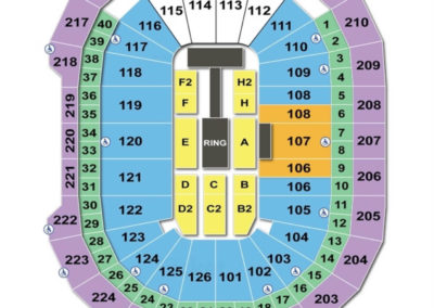 Giant Center Seating Chart WWE