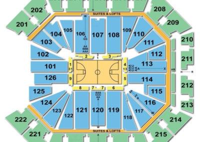 Golden 1 Center Basketball Seating Chart