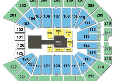 Golden 1 Center wwe Seating Chart