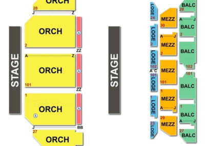 Golden Gate Theatre Seating Chart Concert