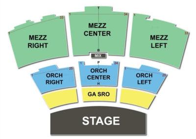Grand Sierra Theatre Seating Chart MGM Grand Reno