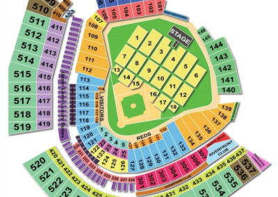 Great American Ball park Seating Chart Concert