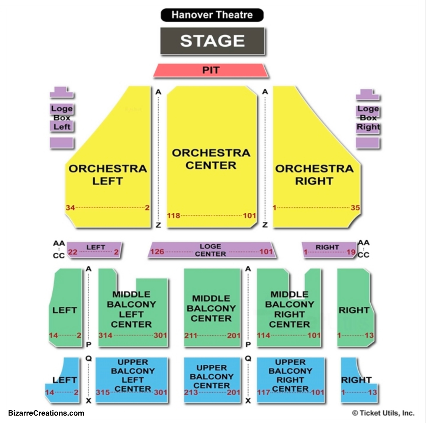 Hanover Theatre Seating Chart - Worcester