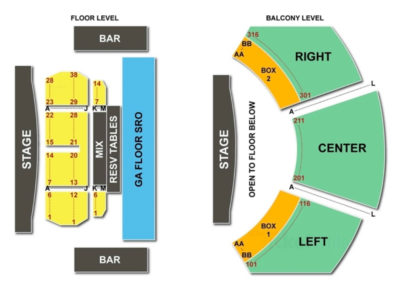 House of Blues Dallas Seating Chart