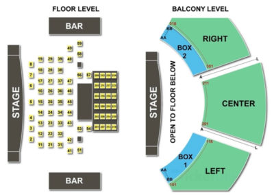 House of Blues Seating Chart - Dallas