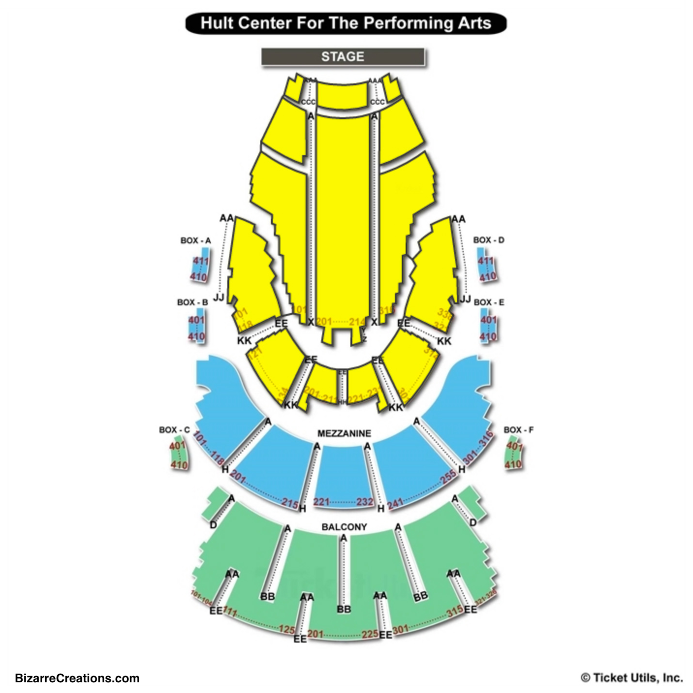 Hult Center Seating Chart