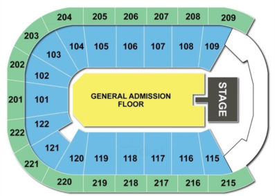 Huntington Center Seating Chart Concert