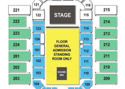 James Brown Arena Concert Seating Chart