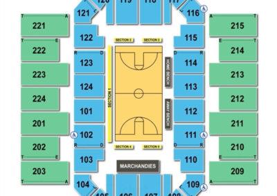 James Brown Arena Seating Chart Basketball
