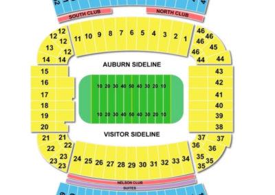 Jordan-Hare Stadium Seating Chart Football