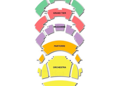 Kauffman Center for the Performing Arts Seating Chart Broadway Tickets National