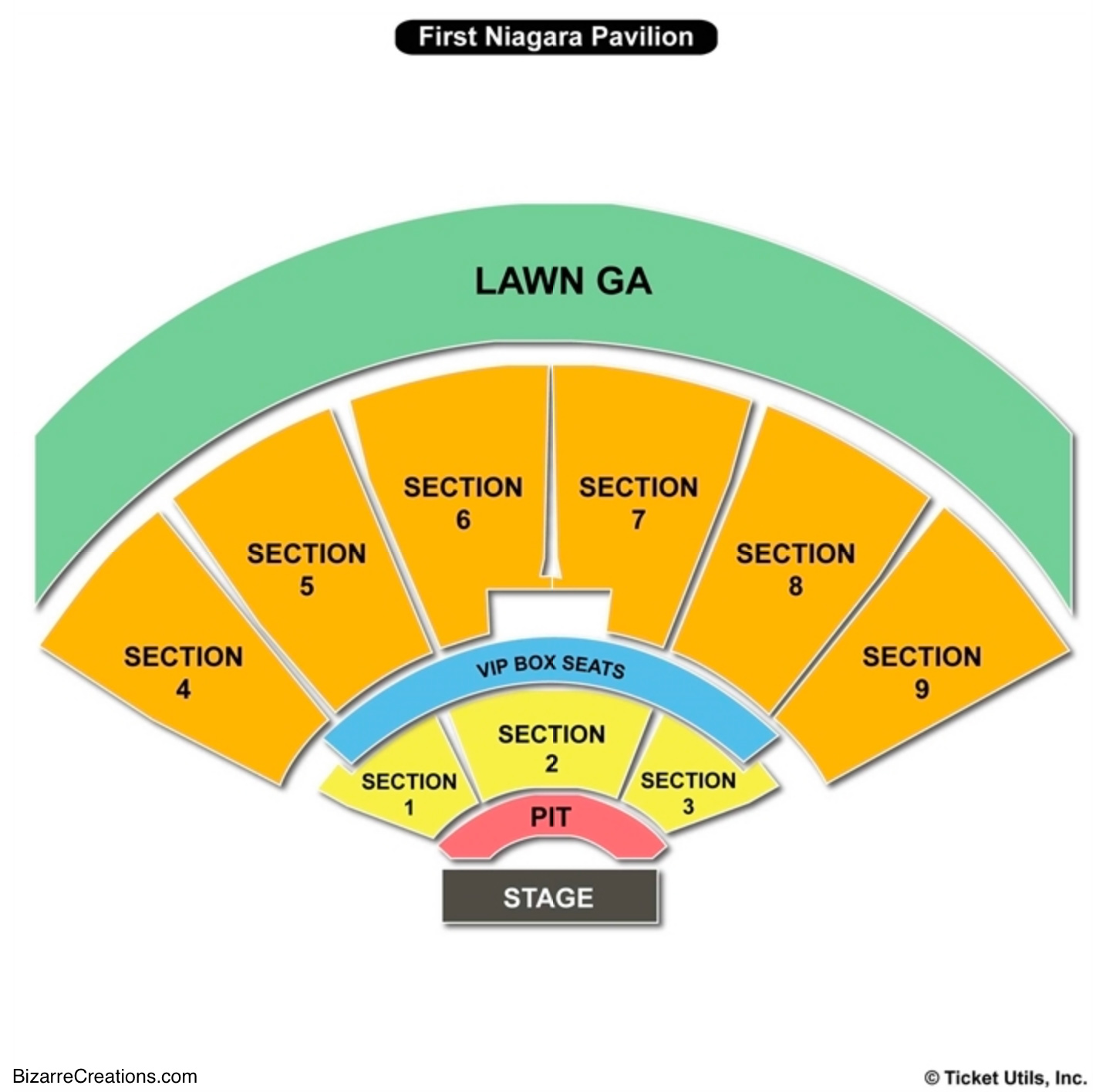KeyBank Pavilion Seating Chart Concert Burgettstown