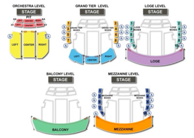 Kravis Center Seating Chart - Dreyfoos Hall