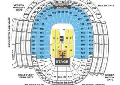 Lambeau Field Concert Seating Chart