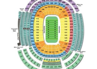 Lambeau Field Football Seating Chart