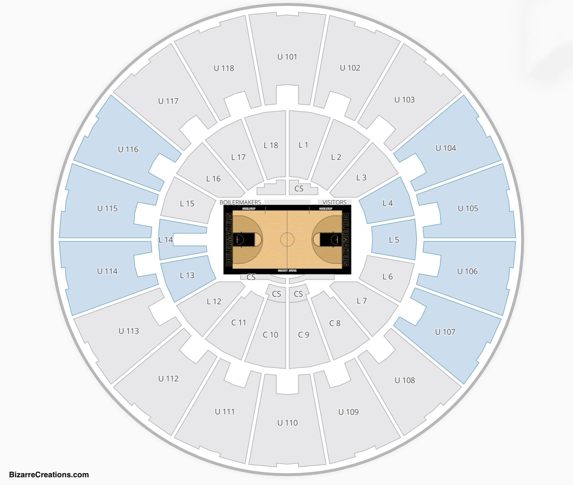 Mackey Arena Seating Chart