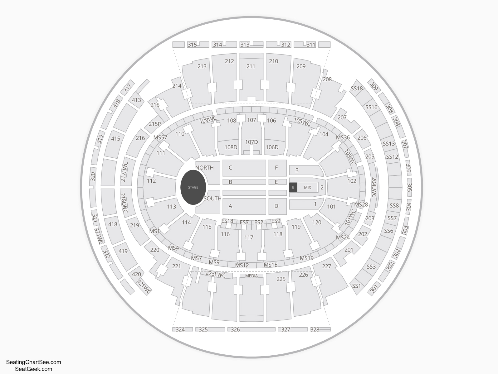 Madison Square Garden Seating Chart Concert