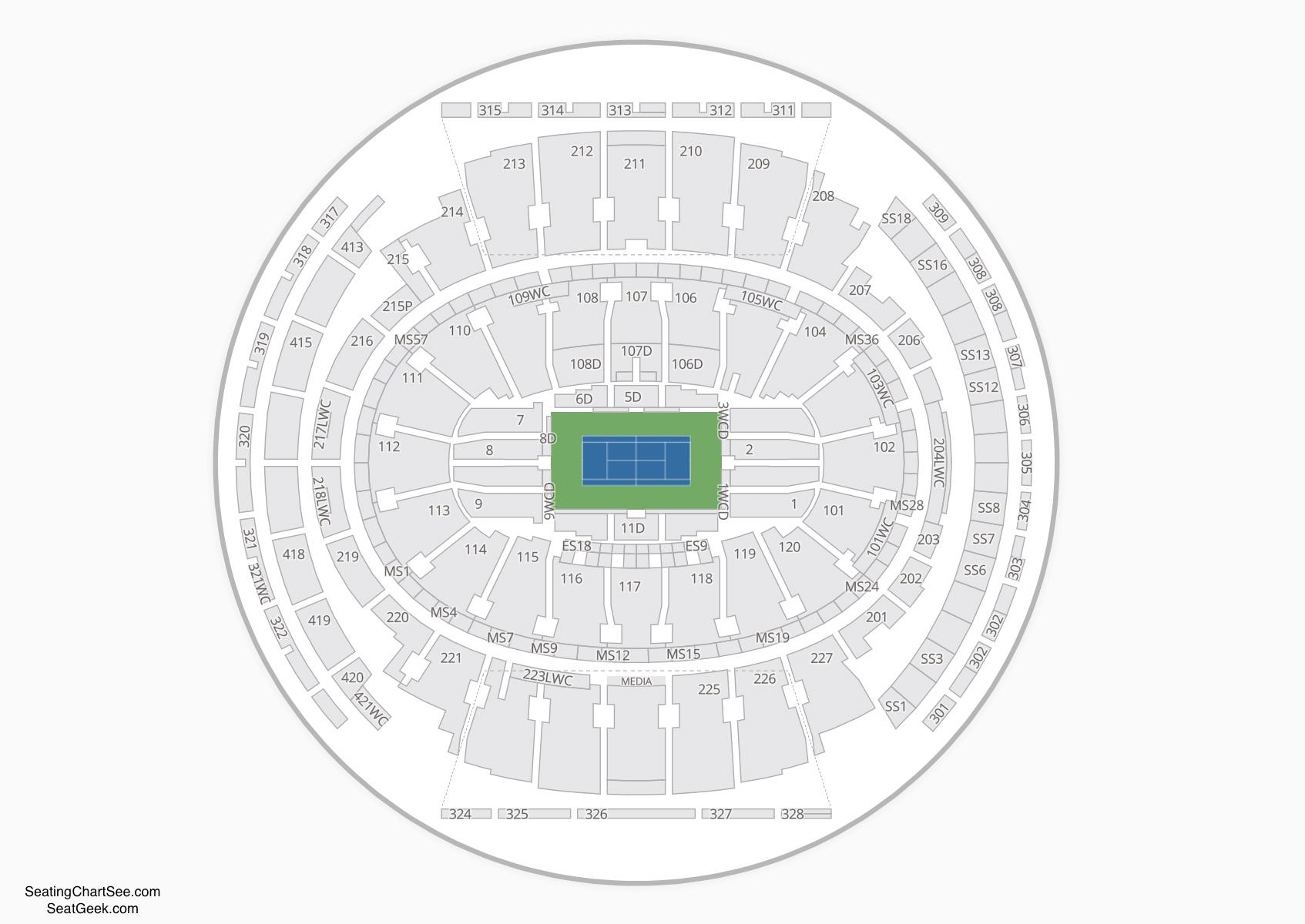 Madison Square Garden Tennis Seating Chart