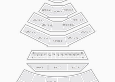 Mann Center Seating Chart Concert