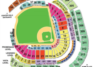 Marlins Park Seating Chart Baseball