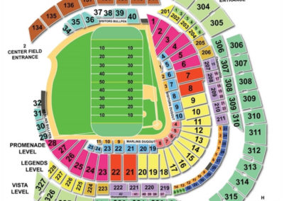 Marlins Park Seating Chart Football