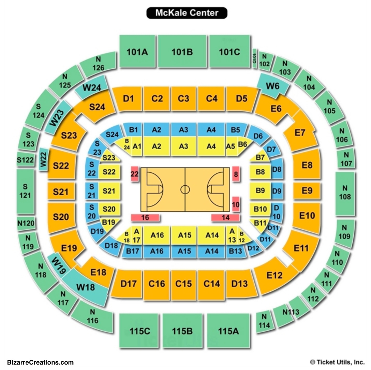 Mckale Center Seating Charts Views