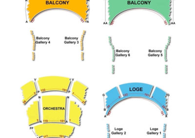 Mead Theatre Schuster Performing Arts Center Seating Chart