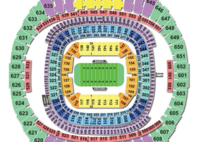 Mercedes-Benz Superdome Football Seating Chart