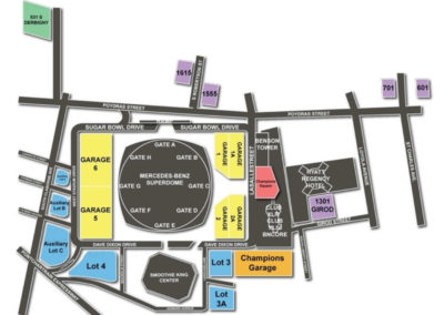 Mercedes-Benz Superdome and Smoothie King Center Parking Lots