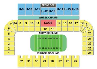Michie Stadium Seating Chart Football