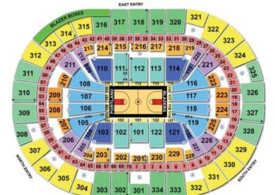 Moda Center Basketball Seating Chart