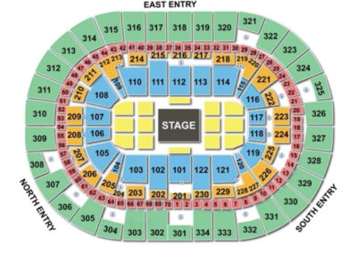 Moda Center WWE Raw Seating Chart