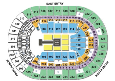 Moda Center wwe Live Seating Chart