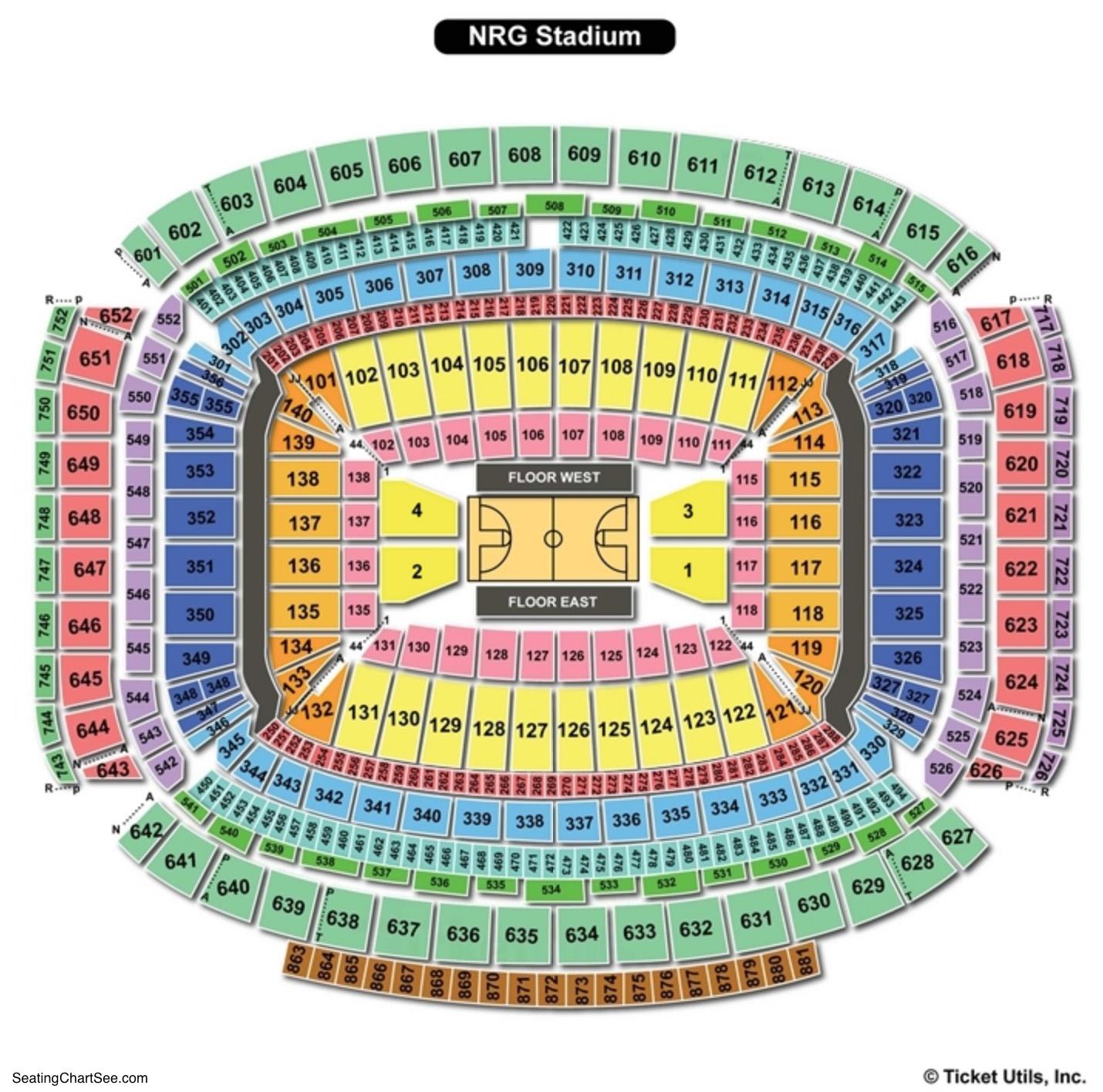 NRG Stadium Basketball Seating Chart