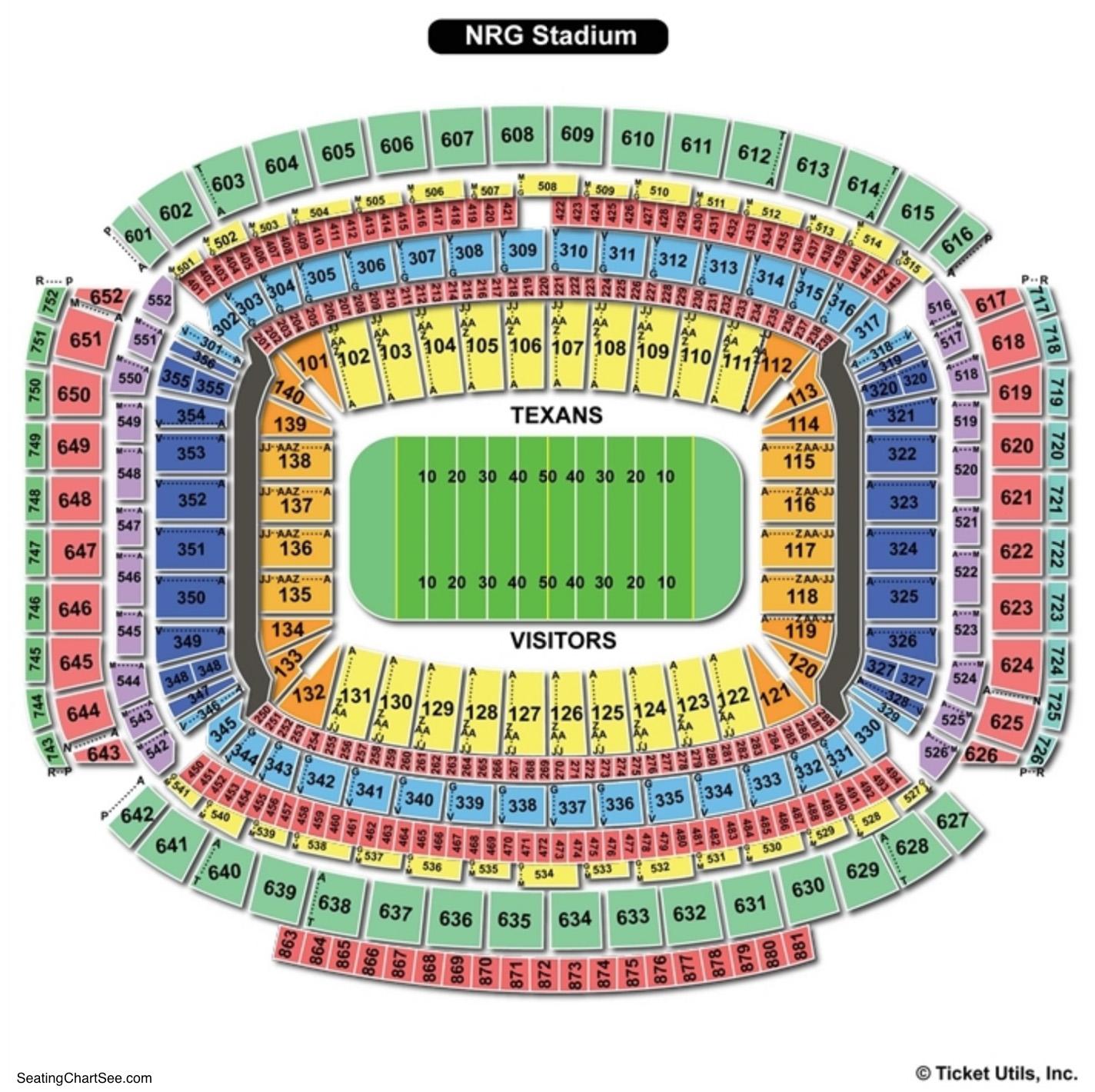 NRG Stadium Football Seating Chart