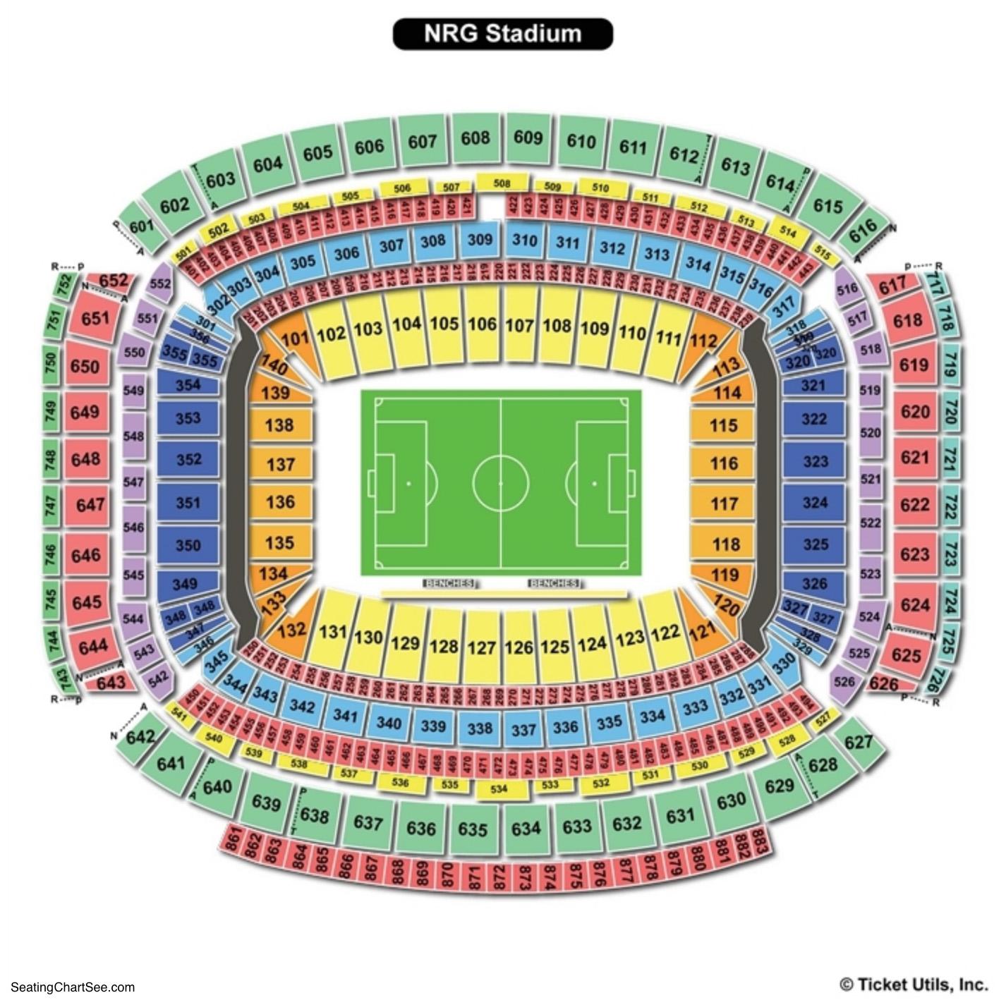 NRG Stadium Soccer Seating Chart