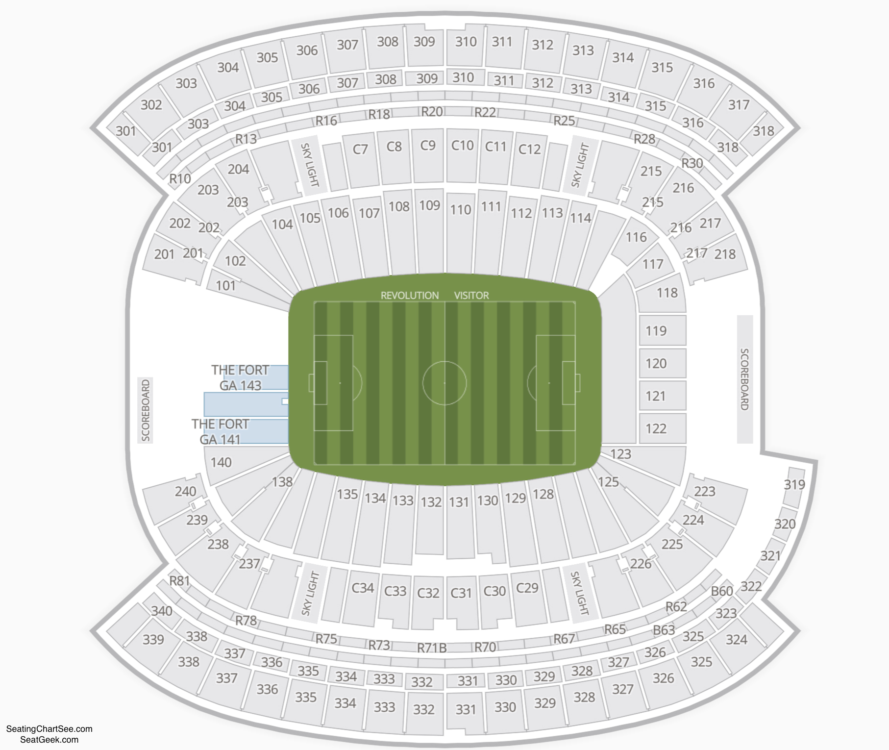 Gillette Stadium Seating Charts Views Games Answers Cheats