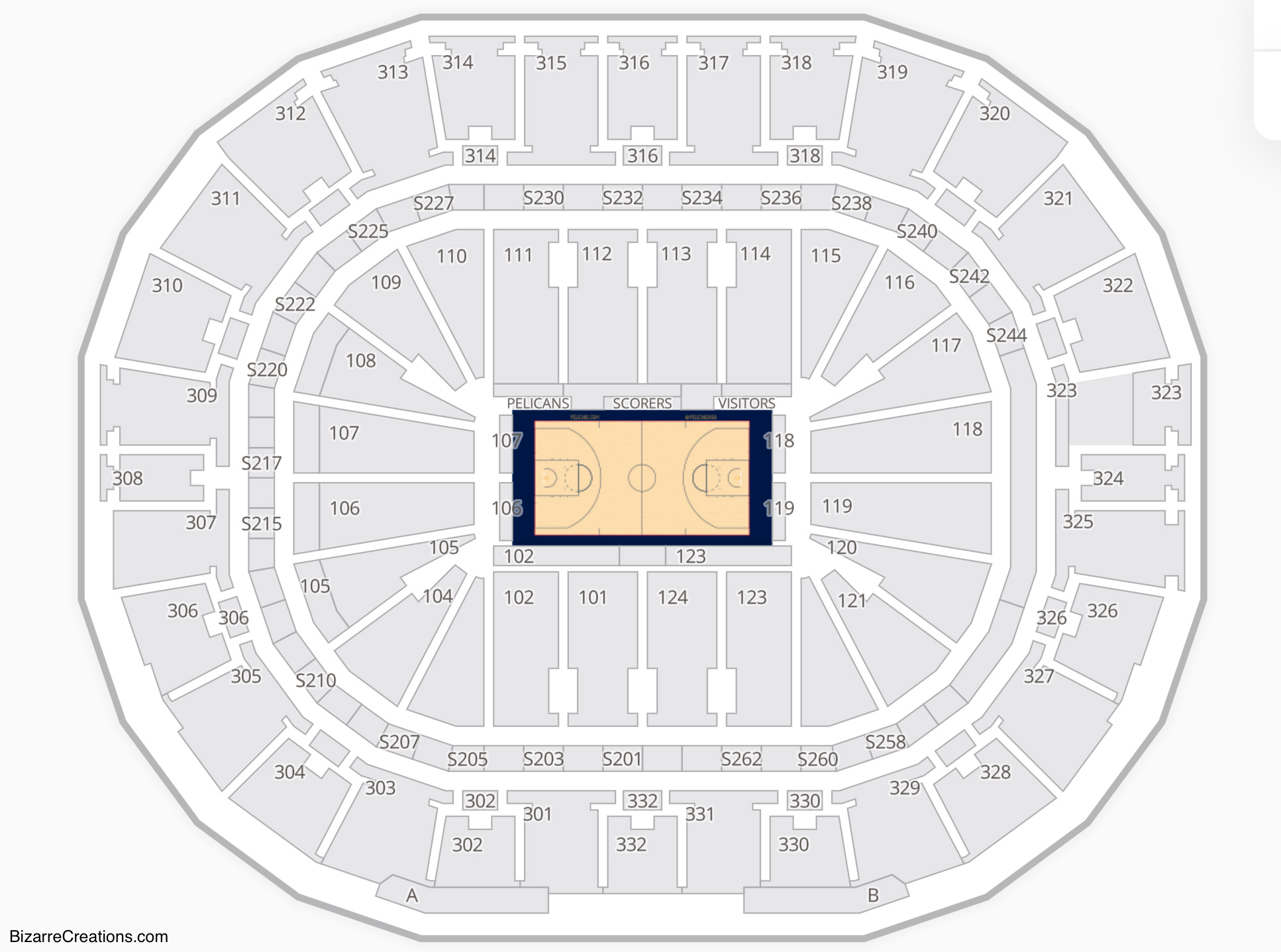New Orleans Pelicans Seating Chart