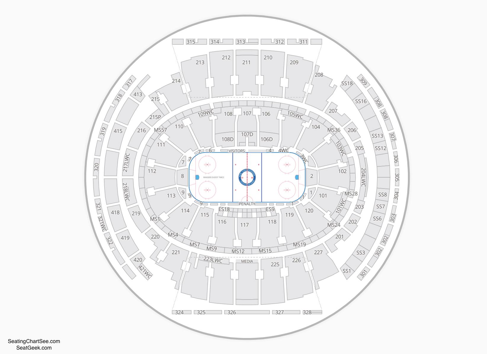 New York Rangers Seating Chart