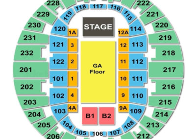 Norfolk Scope Arena Concert - Seating Chart