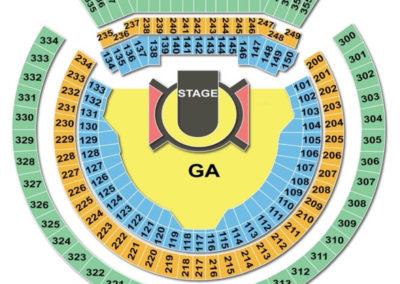 Oakland Alameda County Coliseum Seating Chart U2