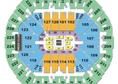 Oracle Arena Boxing Seating Chart