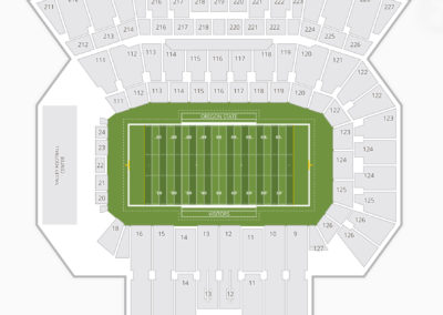 Oregon State Beavers Football Seating Chart