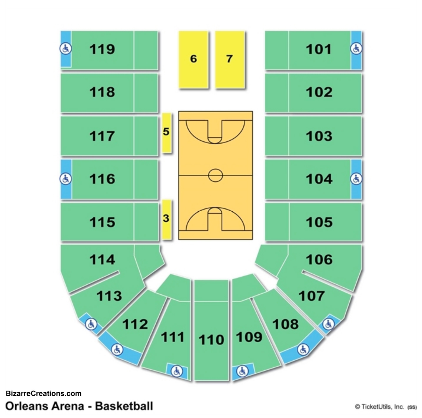 Orleans Arena Seating Charts Views Games Answers Cheats