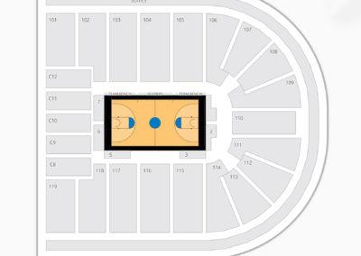 Orleans Arena Seating Chart NCAA Basketball